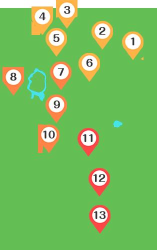 秋田県のマップ