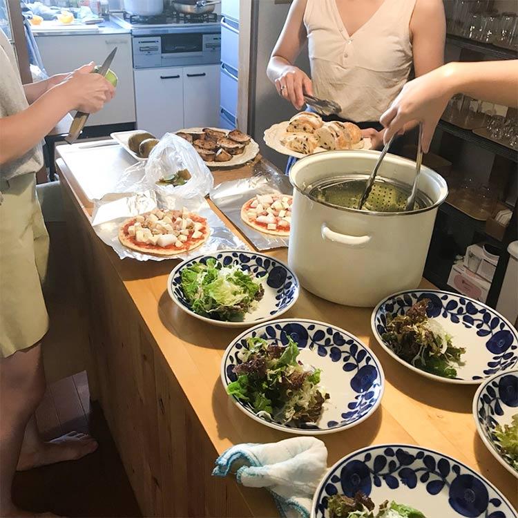 移住者女子会、料理