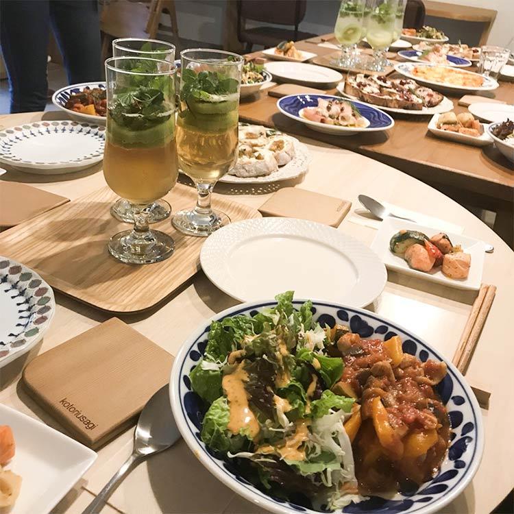 移住者女子会、ディナー