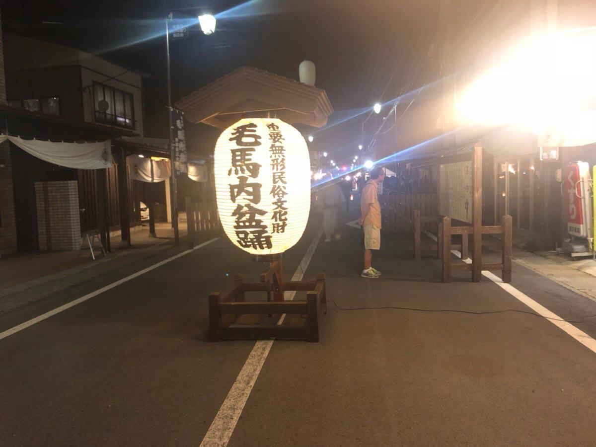 毛馬内盆踊り 提灯