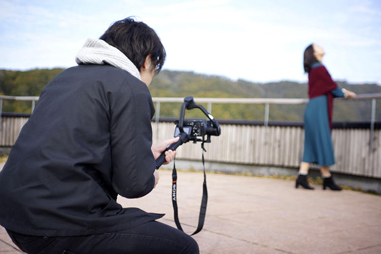 鹿角の秋を映像化!個人制作動画『Kazuno Film Autumn』の撮影に密着!