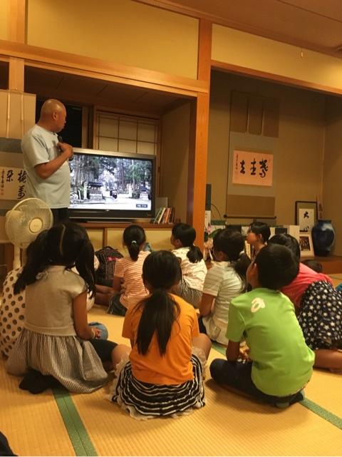 小学生たちの禅の集い